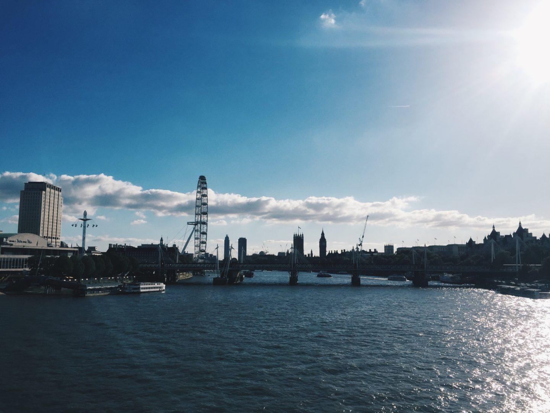 london view from waterloo bridge