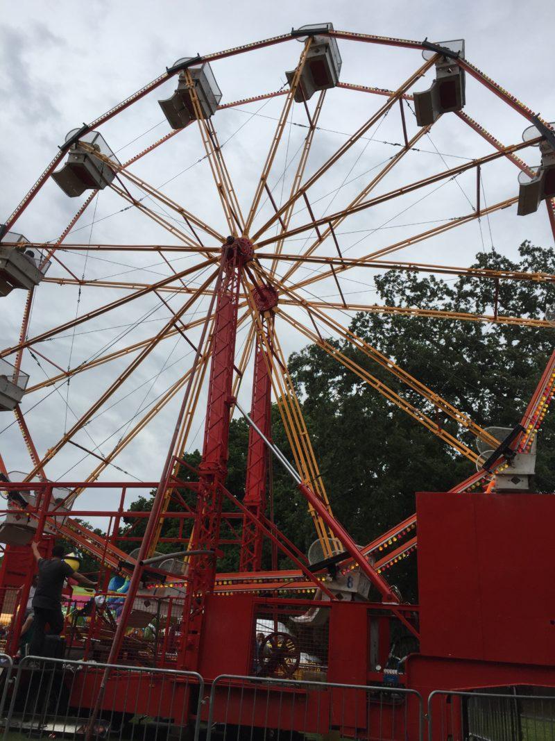 ferris wheel up close