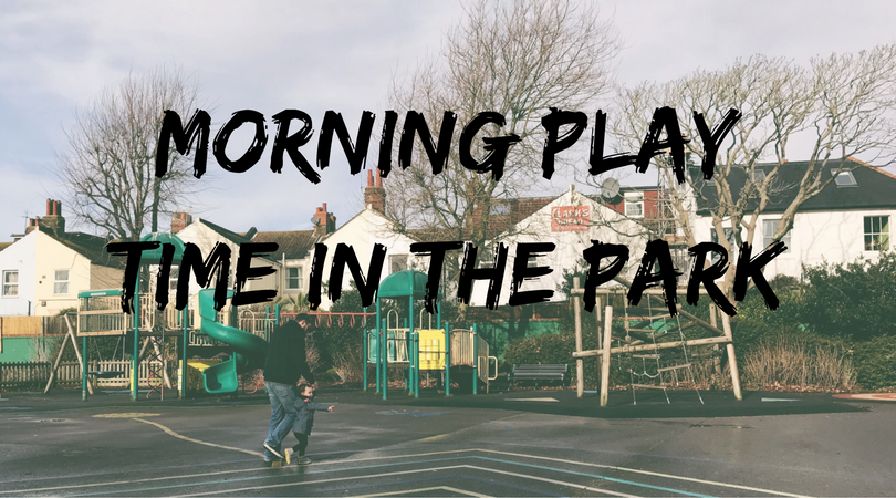Morning play time in the park